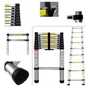 2.6m Échelle télescopique 2.60mètres PRO en Aluminium–9échelons–Norme EN131 de la marque Todeco image 0 produit