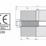 Boulons d'ancrage acier galvanisé M10x 65,80,95,110,120,150mm avec autorisation ETA , 67110X50-10stk- de la marque Parco image 1 produit