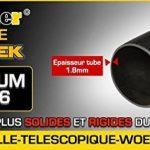 ESCABEAU-ÉCHELLE TÉLESCOPIQUE WOERTHER TRIPLE FONCTIONS / 5M-2M50 / AVEC HOUSSE / MODÈLE GRAFITEK , EN GRAPHITE ET ALUMINIUM 7175T6 / AVEC DOUBLES BARRES STABILISATRICES / GARANTIE 5 ANS de la marque Woerther Echelle image 5 produit