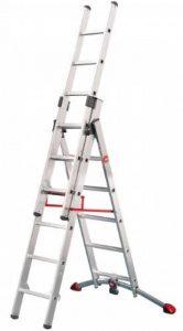 Hailo ProfiStep Échelle Charge maximale 150 kg Capacity Combination Ladder 2 x 6 échelons + 1 x 5 échelons de la marque Hailo image 0 produit