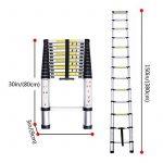 Lifewit Échelle Télescopique Extensible en Aluminium 3,8m Multifonctionnel Capacité de 150kg de la marque Lifewit image 6 produit