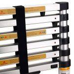 MAXCRAFT–échelle télescopique en aluminium pliable extensible multi-usages sécurité avec protection du doigt pliable marches 3,20m de la marque MA-Trading image 4 produit