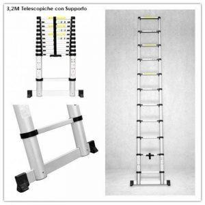 SONGMICS Echelle aluminium Domestique Escabeau Multifonction Hauteur maximale atteinte sur l/'/échelle et bras /étendu 3,5 m R/ésistant /à 150 kg GLT260