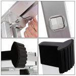 Songmics Echelle aluminium Domestique Escabeau Multifonction Hauteur maximale atteinte sur l'échelle et bras étendu 3.5 m Résistant à 150 kg GLT260 de la marque Songmics image 5 produit