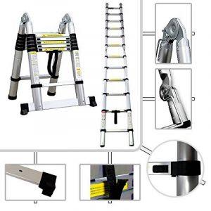 Tabouret 2en 1Echelle Télescopique Pro de 95cm à 3.80mètres d'hauteur–Norme EN131 de la marque Todeco image 0 produit