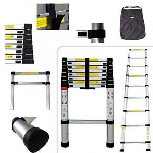 Todeco - Telescopic ladder, Échelle Pliable - Charge maximale: 150 kg - Standards/Certifications: EN131 - 2,6 mètre(s), Sac de transport OFFERT de la marque Todeco image 0 produit