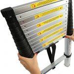 TRESKO Échelle télescopique en aluminium 2,60m, Norme EN131 | SGS contrôlé de la marque TRESKO image 5 produit