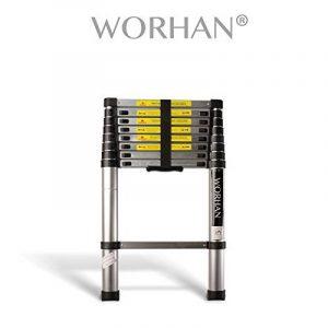 WORHAN® Echelle 2.6m Télescopique PRO Aluminium Anodisé Solide Extensible 260cm (......2.6m C-line) 1K2.6C de la marque WORHAN® image 0 produit