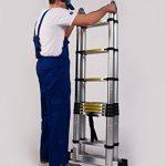 WORHAN® Echelle 5m Télescopique Aluminium Anodisé Modulable Pliable Polyvalente Escabeau Solide 500cm (5m A-Line) K5A de la marque WORHAN® image 4 produit